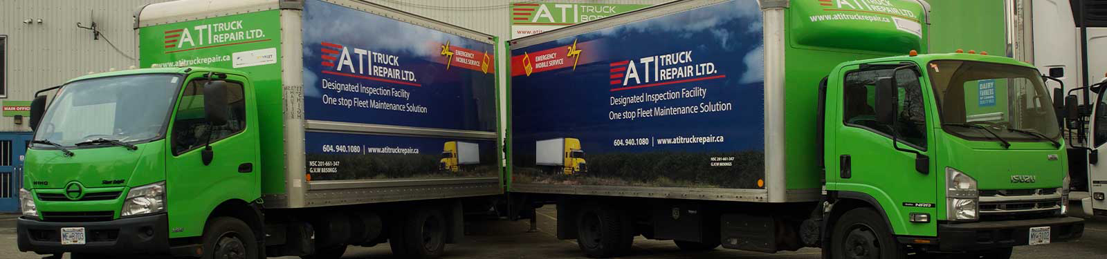 ATI Truck Repair Ltd. - Inside Garage