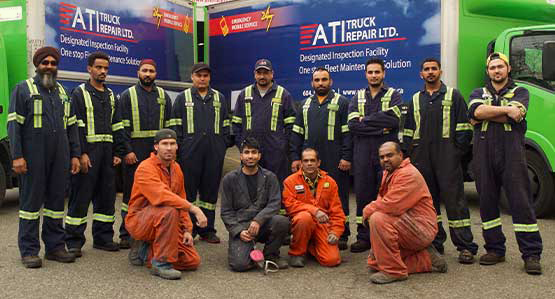 Truck Repair and Truck Collision Repair mechanics at ATI Truck Repair
